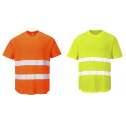 536a41da4bca99 Ostrzegawczy T-shirt z panelami z siatki C394 marki Portwest.