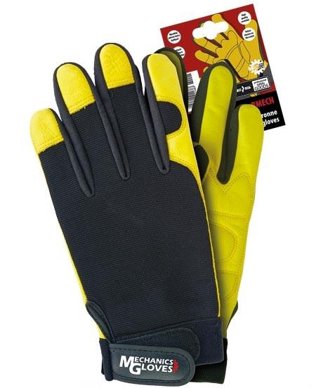 ec39766201fd77 Rękawice wzmacniane typu Mechanic gloves skóra bydlęca ocieplane RMECH